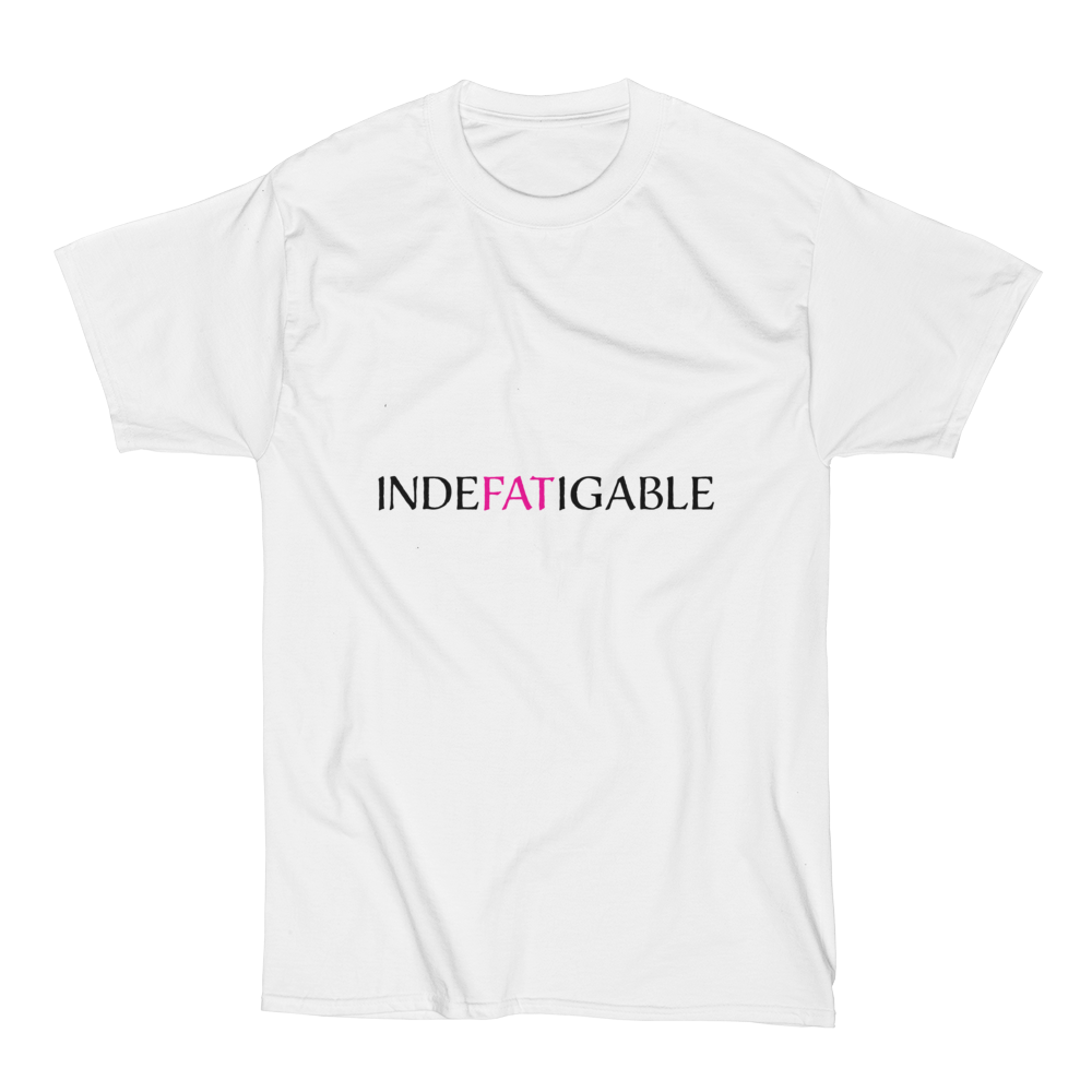 Indefatigable T shirt in white up to 6XL