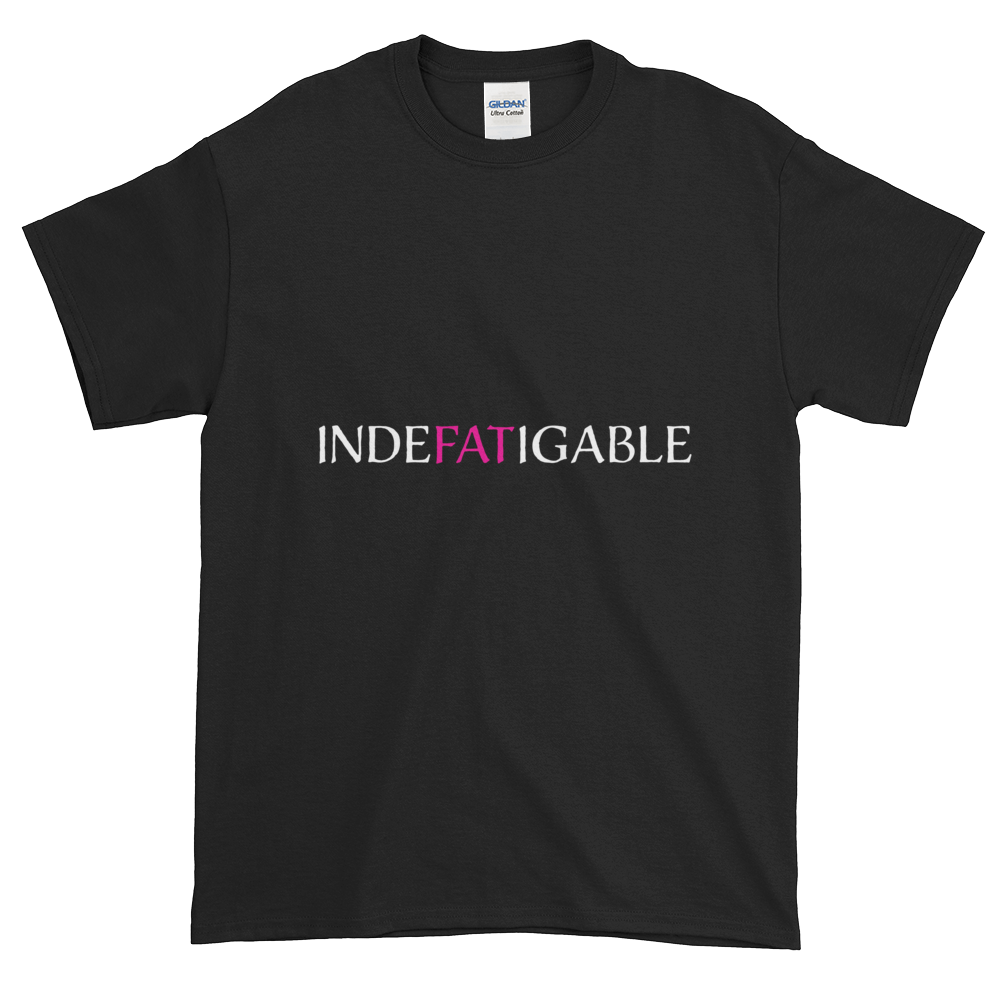 Indefatigable plain T-shirt in black + other colors up to 5XL